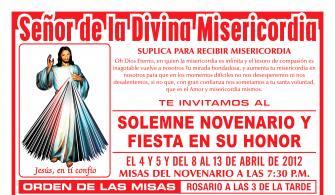 Program of the Lord of Mercy Festivity