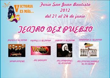 Program of the San Juan Bautista Fair 2012 (Victoria, Gto.)